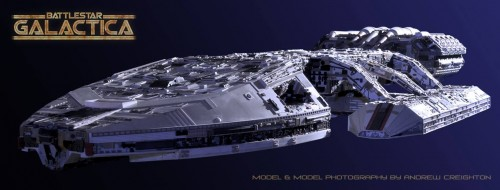 Battlestar Galactica Model and Phot by Andrew Creighton